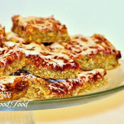 Raspberry Coconut Oatmeal Bars