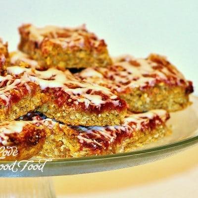 Raspberry Coconut Oatmeal Bars