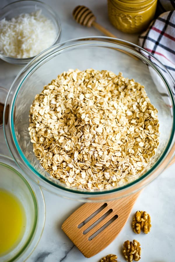 granola starts with rolled oats