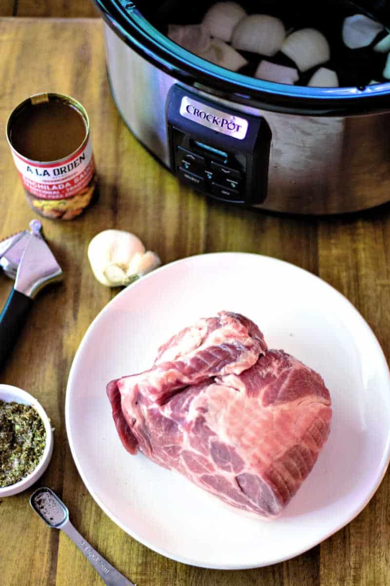 ingredients for pork carnitas