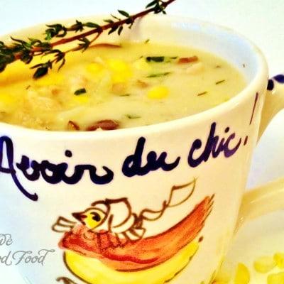 Cheesy Chicken Corn Chowder