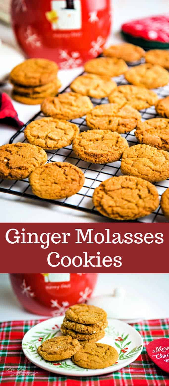 Ginger Molasses Cookies. Crispy on the outside and chewy on the inside, these shaped cookies are spiced with ginger, cinnamon, and molasses for a tasty, homey treat that's not overly sweet.