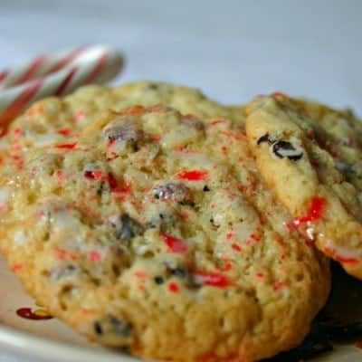 Peppermint Crunch Chocolate Chip Cookies