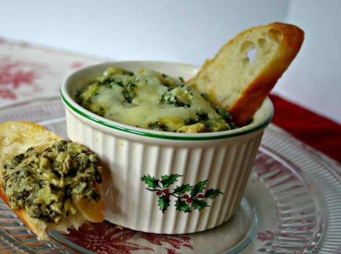 Lightened-Up Warm Artichoke & Spinach Dip - Life, Love, and Good Food