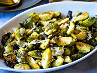 Roasted Brussels Sprouts with Asiago Cheese