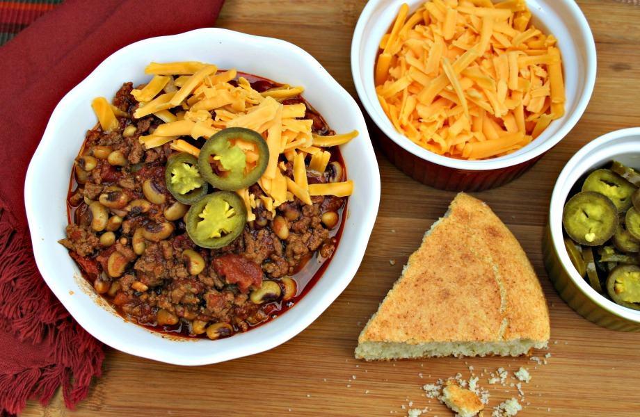 Beefy Black-Eyed Pea chili