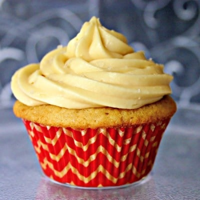 Brown Sugar Pound Cupcakes with Salted Caramel Frosting