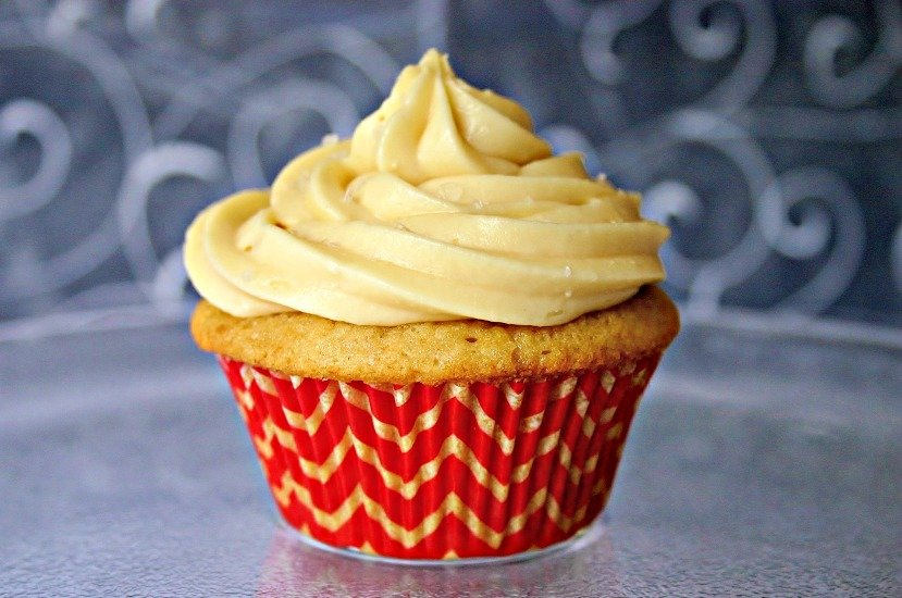Brown Sugar Pound Cupcakes with Salted Caramel Frosting - Life, Love ...