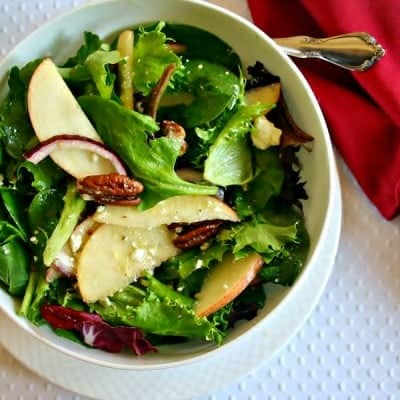 Winter Salad with Maple Cider Vinaigrette