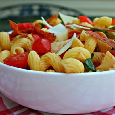 Cavatappi Amatriciana Pasta Salad