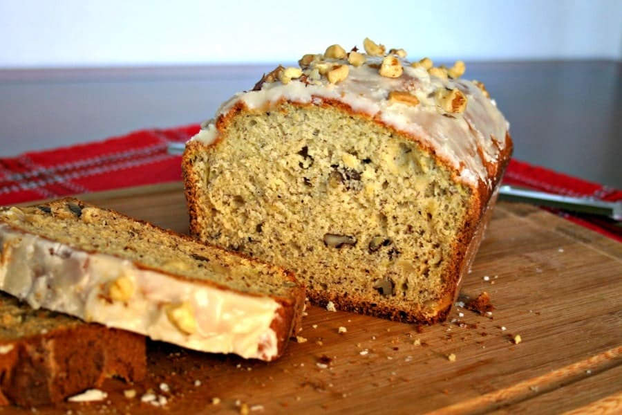Banana Nut Bread with Browned Butter Glaze