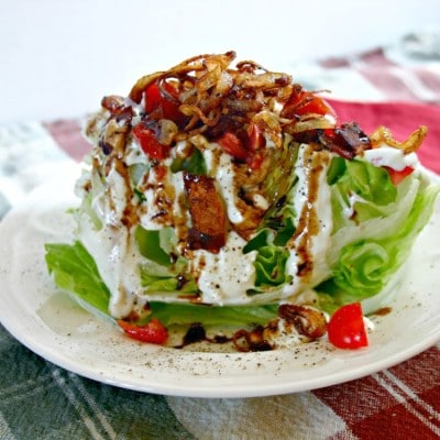 Wedge Salad with Buttermilk-Blue Cheese Dressing