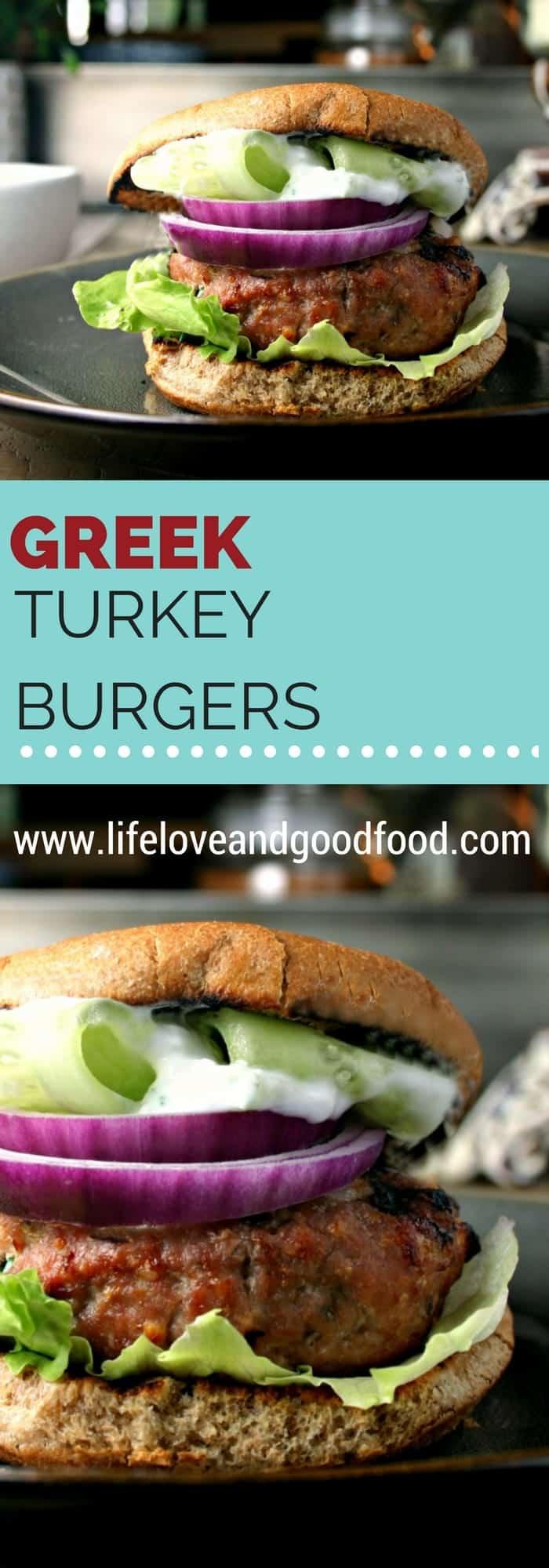 Greek Turkey Burgers | www.lifeloveandgoodfood.com