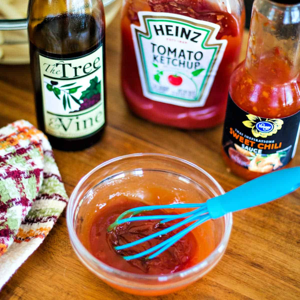 ingredients for spicy ketchup sauce