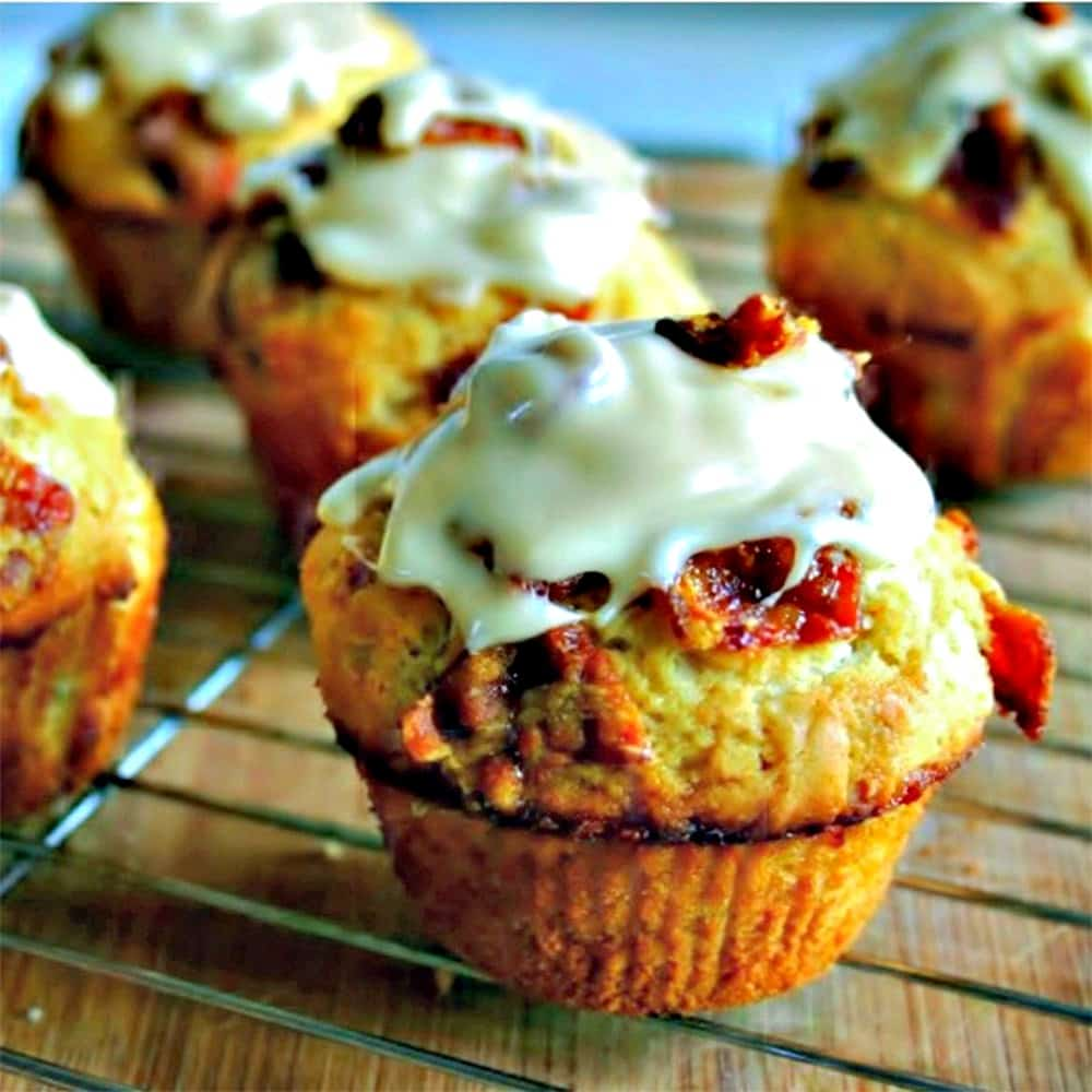 Maple-Glazed Bacon Muffins | Life, Love, and Good Food
