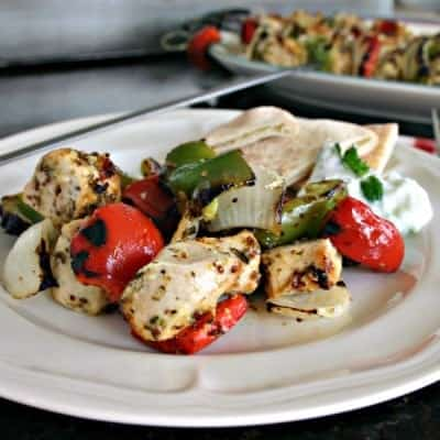 Greek Chicken Kabobs with Cucumber Sauce
