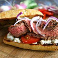 Gyro Style Steak Sandwich