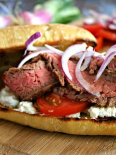Gyro Style Steak Sandwich