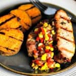 Country-Style Pork Ribs with Grilled Sweet Potatoes and Chow Chow | Life, Love, and Good Food