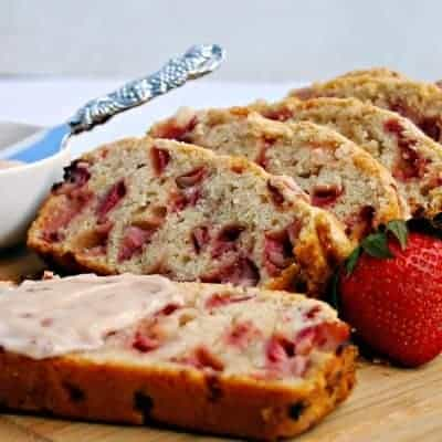 "Strawberry Bread with Strawberry ""Shmear"""