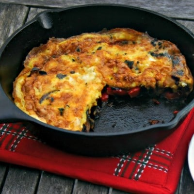 Caramelized Mushroom and Onion Frittata