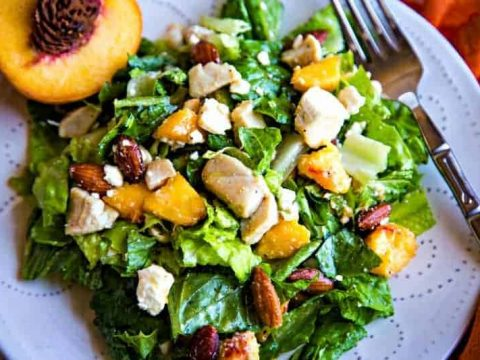 Chopped Chicken Salad with Fresh Peaches