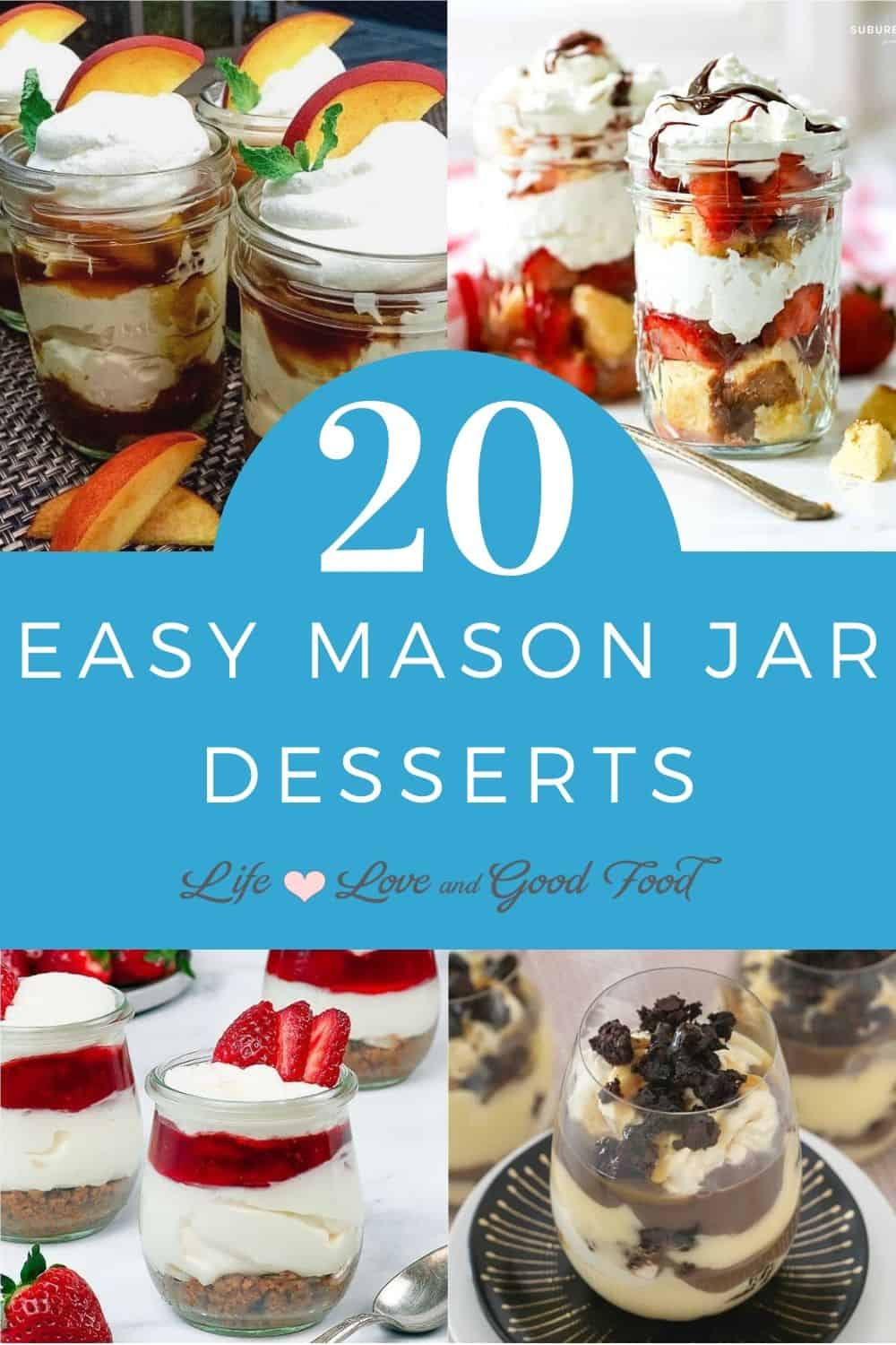 This list of 20 Mason Jar Desserts recipes includes delicious make-ahead individual desserts with plenty of delicious options for indoor or outdoor events—just stash them in a cooler for easy serving. You'll find cheesecakes, decadent brownies, mousse, trifles, icebox cakes, and many more. You'll have a hard time deciding which one to try first!