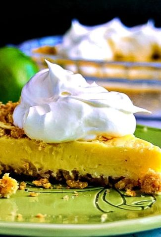 Atlantic Beach Pie garnished with whipped cream