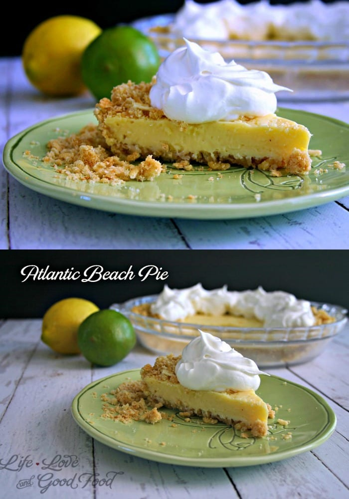 Atlantic Beach Pie combines a creamy lemon-lime filling with a salty-sweet crust - garnish with fresh whipped cream and a sprinkle of sea salt.