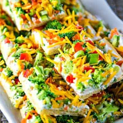 Cool Veggie Pizza Appetizer