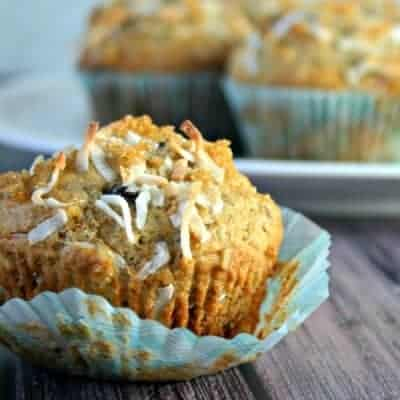 Banana-Chocolate Chip-Coconut Muffins