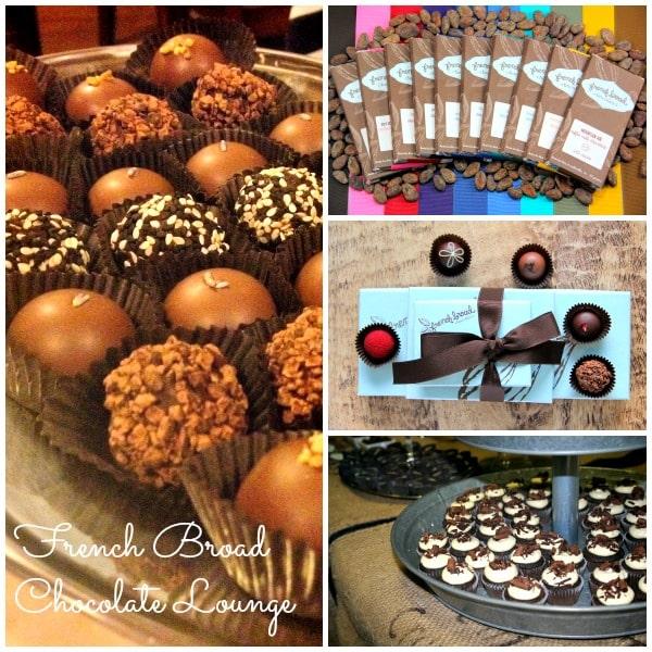 French Broad Chocolate Lounge truffles and Highland Mocha Stout Cake