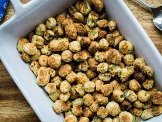 Crunchy Oven-Fried Okra