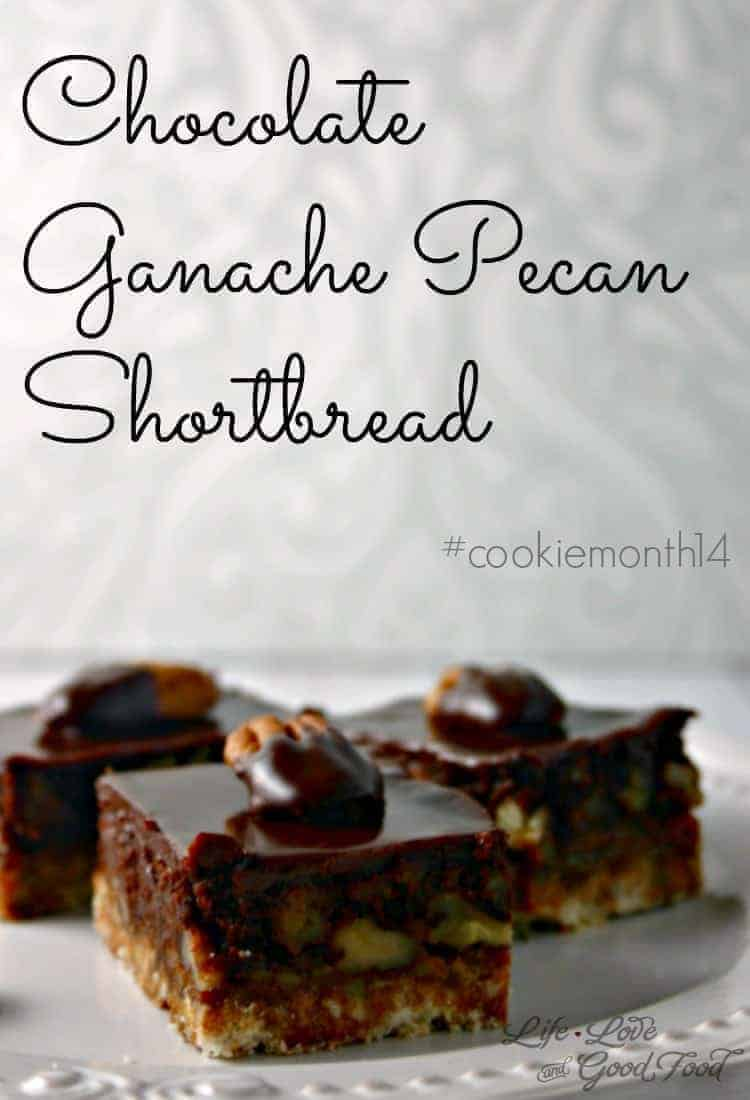 Chocolate Ganache Pecan Shortbread - Life, Love, and Good Food