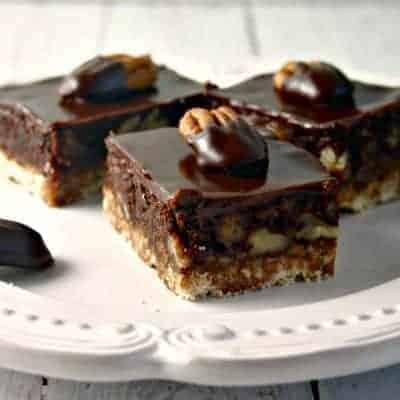 Chocolate Ganache Pecan Shortbread