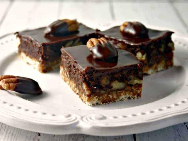 Chocolate Ganache Pecan Shortbread | Life, Love, and Good Food