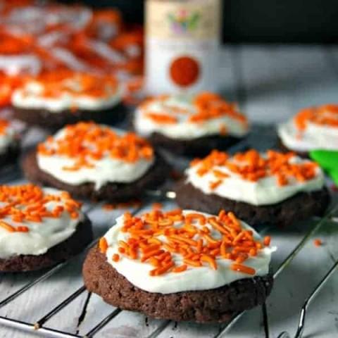 Sue's Iced Chocolate Drop Cookies | Life, Love, and Good Food