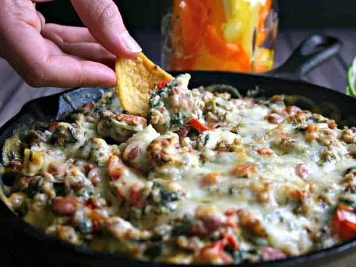 Sausage, Bean, and Spinach Dip | Life, Love, and Good Food