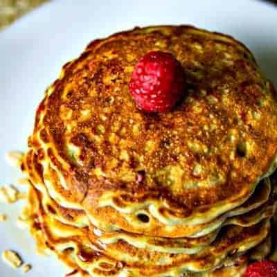You're gonna flip over Raspberry Oatmeal Pancakes!