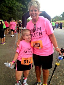 My friend Brenda and her brave granddaughter, Faith.