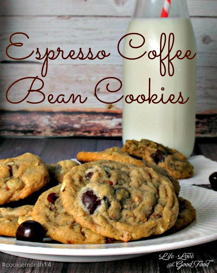 A close up of a plate of Espresso Coffee Bean Cookies