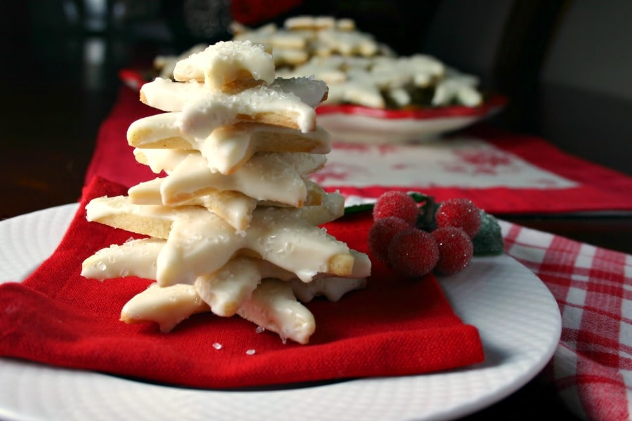 A close up of Vanilla Bean Sugar Cookies