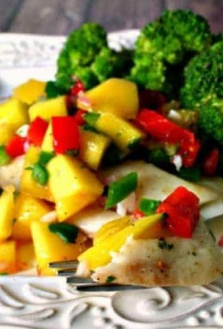 Poached Tilapia with Mango Salsa | Life, Love, and Good Food