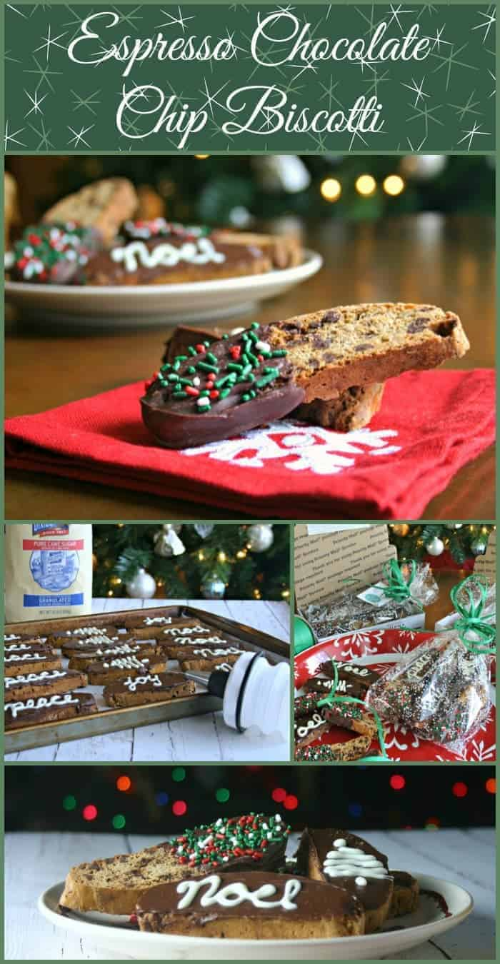 Espresso Chocolate Chip Biscotti - a burst of coffee and chocolate in one delicious cookie!
