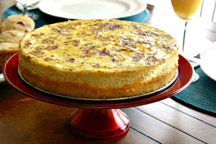 Bacon Cheddar Grits Quiche - Life, Love, and Good Food