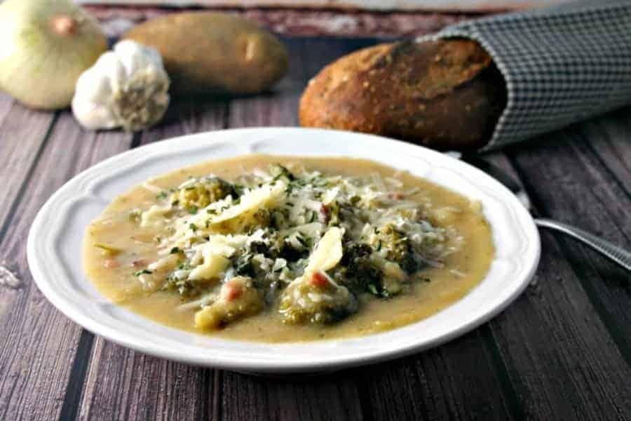 Italian Potato Broccoli Soup | Life, Love, and Good Food