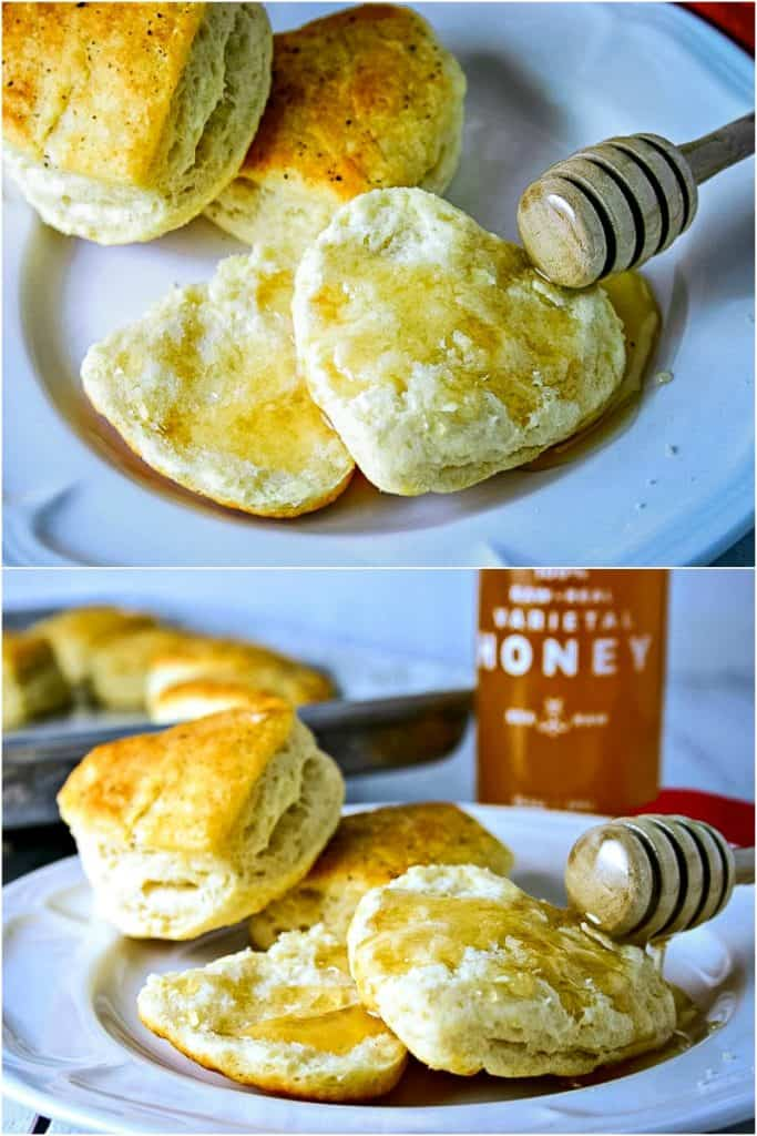 Southern Love Biscuits with honey