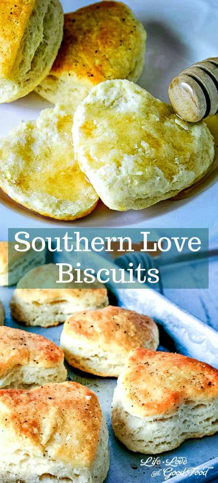 Southern {LOVE} Biscuits. All biscuits are made with love, but using cold fat and bread flour help ensure delicious and flaky biscuit results. #biscuits #quickbread #breakfast