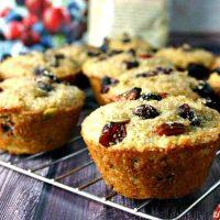 A close up of Super Berry 10 Grain Muffins