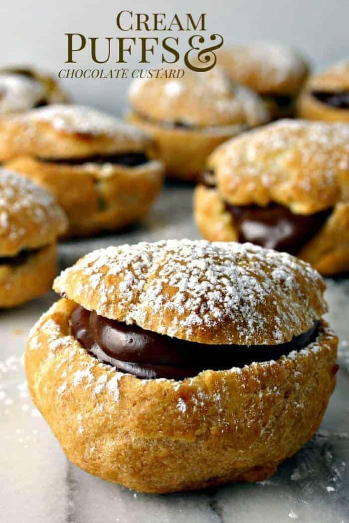Chocolate Custard Cream Puff Recipe